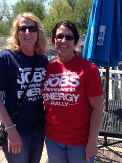 Williams employees Maureen and Tammy attended the MSC rally.