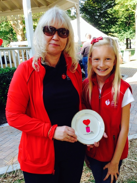 Williams employee Leigh's daughter, Shannon (right), accompanied her mom - and other Williams employees - during this year's Heart Walk. Pictured here with Barbara Roth from the American Heart Association.