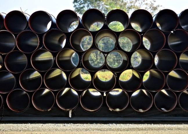 pipe in yard