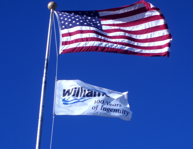 US and Williams Flags