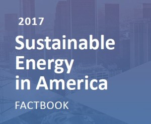 text reads 2017 sustainable energy in America Factbook
