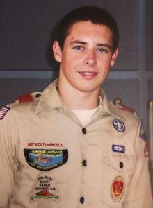 Matt Moshier in his Boy Scout uniform.