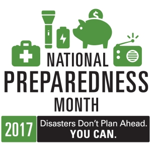 The official logo for National Preparedness Month 2017.