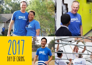 4 photos of day of caring projects