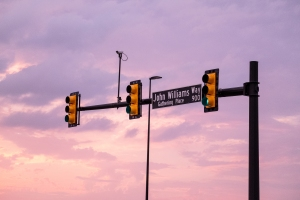 street sign for John Williams way