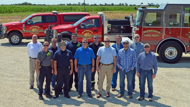 Employees from Williams, CHS, Enterprise and the McPherson Fire Department meet at Mutual Aid Conway, or MAC. The site is intended to be used as a staging area in case of emergency incidents for Williams and other nearby energy operators.