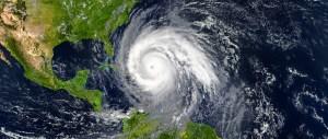hurricane over gulf stock image
